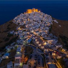 Night view from Astypalea💙 Photo by by Tag your friends and spread the Beautiful Places To Travel, Best Places To Travel, Greek Beauty, Greek Isles, City Photo, Around The Worlds, Instagram, Europe, Homeland
