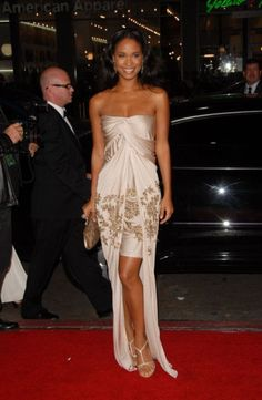joy bryant Celebrity Red Carpet, Celebrity Look, All Fashion, Fashion Looks, Womens Fashion, Joy Bryant, Beautiful Outfits, Cute Outfits, Beautiful Goddess
