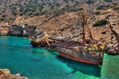 Ship Wreck in Greece #abandoned #ship #wreck #greece #photography