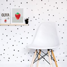 Dots Wallpaper Black and White Wallpaper Kids by trendypeasdecals