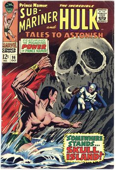 1967 Tales to Astonish # Sub-Mariner & Incredible Hulk Marvel Comics. Hulk Marvel, Hulk Comic, Marvel Comic Books, Comic Books Art, Comic Art, Avengers, Book Art, Marvel Characters, Silver Age Comics