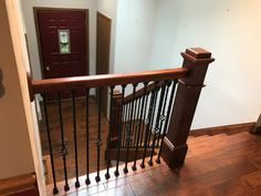 Engineered Hickory Hardwood Flooring And A Really Nice Handrail System For  The Stairway On King Arthur