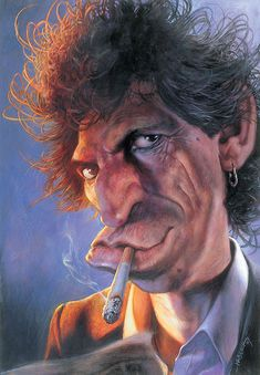 Keith Richards by Sebastian Kruger