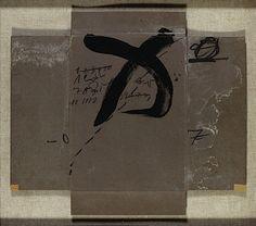 Antoni TAPIES (né en 1923) COUVERCLE DEPLOYE AU GRAPHISME NOIR, 1976 Acrylique et crayon sur carton Hauteur : 51 Largeur : 59 cm - See more at: http://www.artcurial.com/fr/asp/fullCatalogue.asp?salelot=1458+++++616+&refno=10239378#sthash.tpkdit2q.dpuf