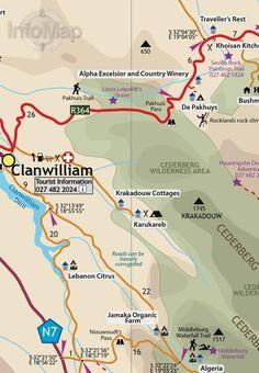 Image result for cederberg tourist map