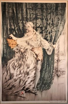 Louis Icart's nickname was Helli derived from his initials L. Louis Icart was a French Art Deco painter and designer. Icart was born in 1890 in Toulouse and died in Paris in He became most well known as an artist in New York in the Art And Illustration, Illustrations, Art Nouveau, Musée Rodin, French Art Deco, Blog Art, Art Français, 1920s Art, Ouvrages D'art