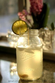 GGMS ~ Good Girl Moonshine THM  •Fill a quart sized jar with water and ice. •Add a generous drizzle of raw apple cider vinegar (I use 1-2 T). •Add 1 t of ginger powder  •Add a few shakes of NuStevia Pure White Extract to taste. If you use Truvia – try 3 to 5 t.  •perhaps a good idea to drink with a straw to protect teeth from the acidity.