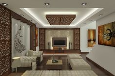 Gypsum ceiling design for living room lighting home for Aleso3d interior 026 lounge room