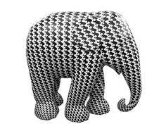 Elephant Chic: This Fashion Forward Elephant is clad in vinyl wrapped digital print and is a member of the herd of 250 brightly painted, life-size elephants in Elephant Parade London 2010, a conservation campaign.