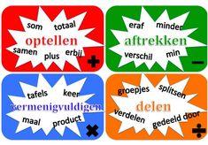 Onderwijs en zo voort ........: 2882. Woorden bij verhaaltjesommen : Steekwoorden ... Coaching, Math Classroom, My Passion, Mathematics, Teacher, Education, Learning, Lisa, Ideas