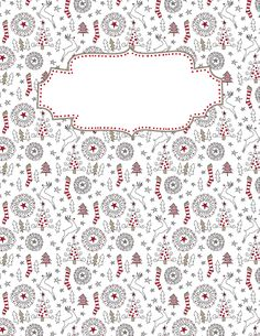 Free printable Christmas doodle binder cover template. Download the cover in JPG or PDF format at http://bindercovers.net/download/christmas-doodle-binder-cover/