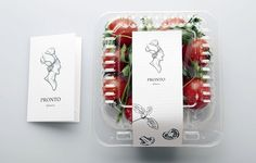 Pronto Italian Restaurant packaging - simple and elegant