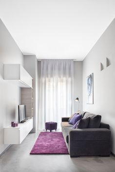 Decoration of Small Living Rooms: New Interior Trends 2019 - Interior Decor Trends Small Apartment Interior, Hall Interior, Apartment Design, Interior Design Living Room, Living Room Designs, Living Room Decor, Narrow Living Room, Small Rooms, Ikea Small Spaces