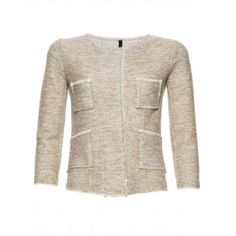 Chanel-Jäckchen, aus Sweatshirtstoff, Saum aus Chiffon, vier Taschen auf der Vorderseite von Benetton.