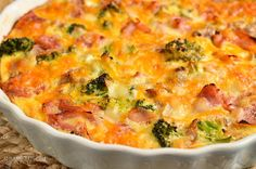 Slimming Eats Syn Free Crustless Ham and Broccoli Quiche - gluten free Slimming World and Weight Watchers friendly Slimming World Quiche, Slimming World Cake, Slimming World Recipes Syn Free, Quiche Recipes, Ww Recipes, Cooking Recipes, Free Recipes, Recipies, Dinner Recipes