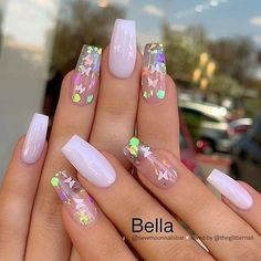 How to choose your fake nails? - My Nails Purple Acrylic Nails, Acrylic Nails Coffin Short, Summer Acrylic Nails, Best Acrylic Nails, Coffin Nails, 3d Nails, Summer Nails, Acylic Nails, Butterfly Nail
