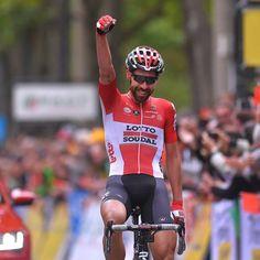 2017-06-04 -Thomas De Gendt (Lotto Soudal) won the opening stage of the Critérium du Dauphiné