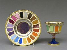 Goblet and Saucer  Imperial Porcelain Manufactory, 1804. Vienna.