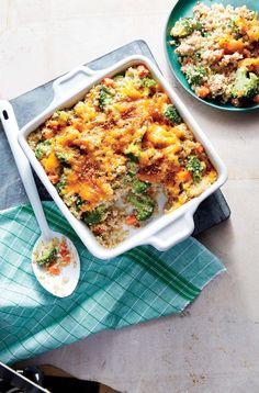 Cheesy Sausage, Broccoli, and Quinoa Casserole   | MyRecipes