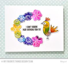 Blissful Blooms stamp set and Die-namics, Birds of Paradise stamp set and Die-namics - Mayuri #mftstamps