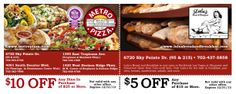 Direct Mail Design for Metro Pizza