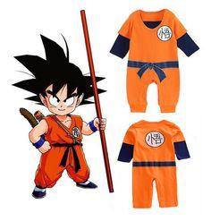 Recién nacido 6 12 18 24 meses pelele para bebé Niño Body Dragon Ball Goku