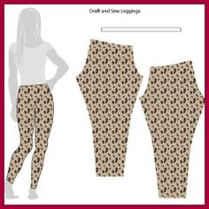 Leggings fra A - Ö: How cool is this? I just saw a pattern for leggings in fabricland today! Must teach myself how to make clothes! -Drafting and Sewing Leggings // Stretch Yourself Diy Clothing, Clothing Patterns, Sewing Patterns, Sewing Pants, Sewing Clothes, Diy Kleidung, Diy Vetement, Diy Mode, Plus Size Kleidung