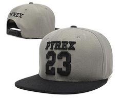 Men's Pyrex Vision Brand Number 23 Streetwear Hip Hop Fashion Snapback Hat - Grey / Black