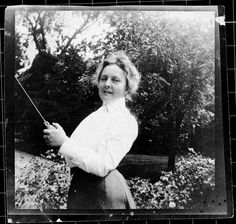 One of our eight amazing founders, Isabella Merrick. Her mother insisted she carry a pistol, and she always rode to class on horseback!