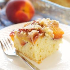 Peach Streusel Cake {Easy and Perfect for Summer!} - The Busy Baker