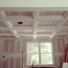 Coffered Ceiling Design Trim Ideals Pinterest Coffer - Cornice crown moulding toronto wainscoting coffered ceiling