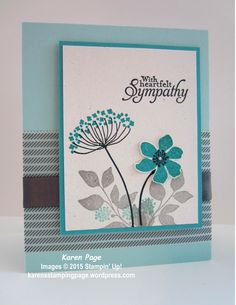 I was needing inspiration for a sympathy card and thought the color challenge at Sunday Stamps and the Monday Lunchtime Sketch Challenge at Techno Stamper would be perfect. To make this card, I us…