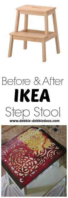Before and after Ikea step stool makeover. Why settle for plain when you can make  sc 1 st  Pinterest & Narrow Transformable Spiral Step Stool From Scrap Wood | Stools ... islam-shia.org