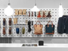 Retail design: Form Pendants from Design House Stockholm in Haberdash store in Stockholm. Product & interior design by Form Us With Love. Visual Merchandising, Showroom Design, Display Design, Store Design, Visual Display, Design House Stockholm, Pegboard Display, Retail Concepts, Retail Interior