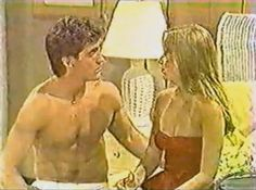 GUIDING LIGHT: Kelly and Morgan (John Wesley Shipp and Jennifer Cooke) in 1982.
