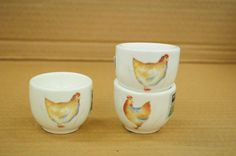 Chicken egg cups, £2.25 each.  Charlie6.