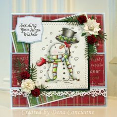 Warm Wishes by DenaC - Cards and Paper Crafts at Splitcoaststampers Stamped Christmas Cards, Homemade Christmas Cards, Christmas Cards To Make, Noel Christmas, Xmas Cards, Handmade Christmas, Homemade Cards, Holiday Cards, 3d Cards
