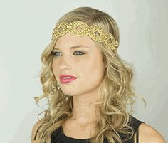 This Pink Pewter Gold fashion headband is the perfect hair accessory or hair jewelry to dress up any look.  Rhinestones, crystals and beadwork are amazing.  My favorite thing is they have a velvet lined back piece so no tangles and no slipping!