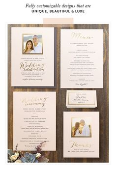 Foil-Pressed Suites + Day-Of Accessories from Minted + A Giveaway!