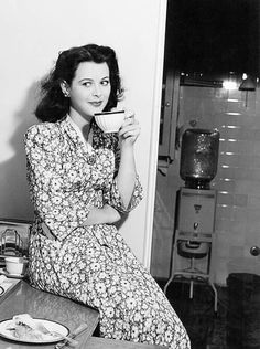 Hedy and her morning cup of coffee.