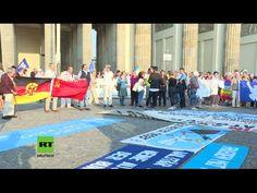 Protest vor dem Brandenburger Tor gegen NATO-Expansion und für Frieden m...