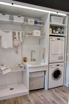 30 Fabulous Laundry Room Decor Ideas You Must Try Small laundry room ideas Laundry room decor Laundry room storage Laundry room shelves Small laundry room makeover Laundry closet ideas And Dryer Store Toilet Saving Small Laundry Rooms, Laundry Closet, Laundry Room Organization, Laundry Storage, Laundry Room Design, Laundry In Bathroom, Organization Ideas, Storage Ideas, Compact Laundry