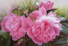 Купить Пионы розовые - розовый, пионы, лепестки, утренний свет, цветок, нежный, натюрморт с цветами