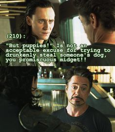 Permiscuous midget is the best nickname for Tony Stark ever