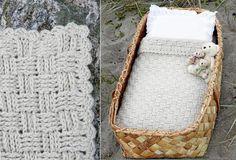 Virka en flätad babyfilt – i underbart lent lama-garn! Baby Patterns, Sewing Patterns, Crochet Patterns, Crochet Ideas, Christmas Crafts For Kids To Make, Kids Christmas, Easy Yarn Crafts, Baby Barn, Textiles