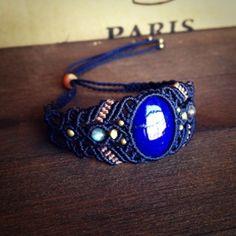 Pietra naturale e macrame accessori negozio nica lapis lazuli braccialetto e vela l'ultimo il 2 °