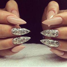 Nude x foil nails