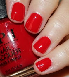 OPI Tell Me About It Stud Many women prefer to go to the hairdresser even when they cannot have time … Opi Red Nail Polish, Opi Nail Colors, Pink Nail, Get Nails, How To Do Nails, Mary Janes, Super Nails, Manicure And Pedicure, Christmas Nails