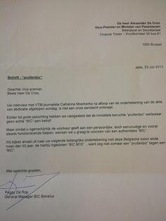 reactie naar Alexander De Croo nav een opmerking die hij gaf in het VTM nieuws