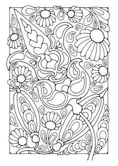 Coloring page flowers - coloring picture flowers. Free coloring sheets to print and download. Images for schools and education - teaching materials. Img 21802.